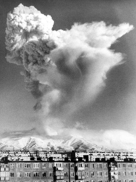 Извержение Авачинского вулкана. Январь 1991 года