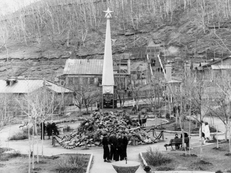 Памятник воинам, погибшим при Курильской десантной операции в августе 1945 года