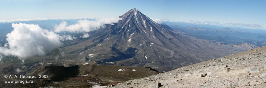 Панорама Корякского вулкана