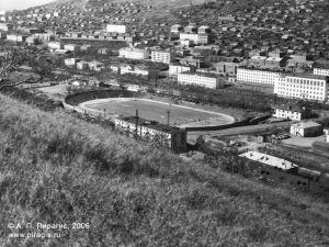 Камчатский стадион Спартак после первой реконструкции