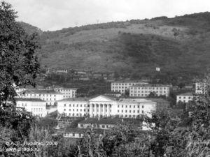 Центр города Петропавловска-Камчатского с видом на здание обкома КПСС