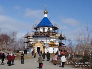 Часовня на городском кладбище Петропавловска-Камчатского
